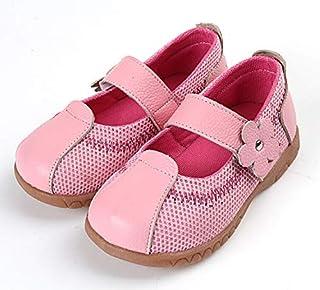 SandQ baby Girls Pink Leather Mesh Shoe