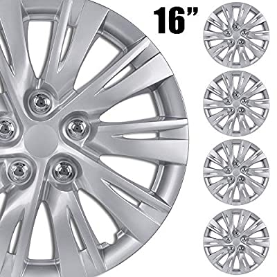 """BDK (4-Pack Premium 16"""""""" Wheel Rim Cover Hubcaps OEM Style for Toyota Camry Style Replacement Snap On Car Truck SUV Hub Cap - 16 Inch Set, KT-1037-16_df"""