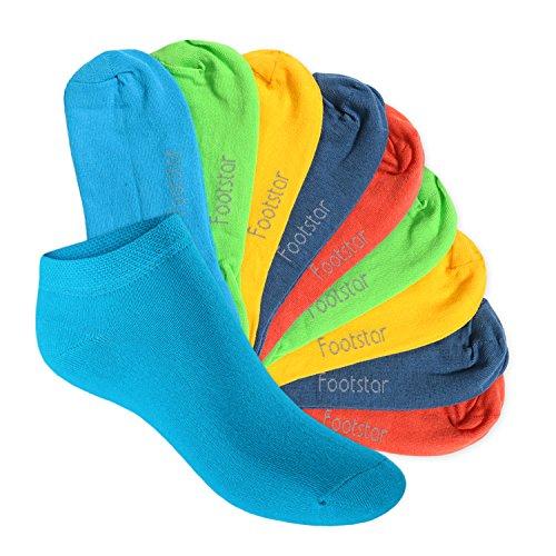 Footstar SNEAK IT! KIDS 10 paia di calze alla caviglia - Calze bambino – trend 23-26