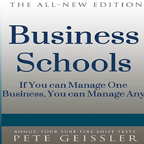 Business Schools: If You Can Manage One Business, You Can Manage Any (Bigshots' Bull) audiobook cover art