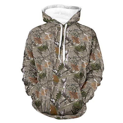 OwlOwlfan Conifer - Sudadera de camuflaje transpirable con bolsillo de canguro bifurcado para Wokers Sporters para gimnasio, deporte, color blanco 3XL