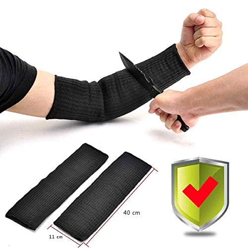 Arm Protectors Cut Heat Resistant Sleeve,iSbaby Kevlar Arm Protection Sleeves Burn Resistant Anti Abrasion Safety Arm Guard for Garden Kitchen Farm Work 1 Pair