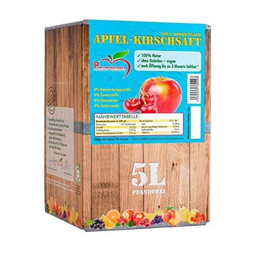 Pfannenschwarz Apfel-Kirschsaft 100% Direktsaft, 2er Pack (2x5 l Bag in Box)