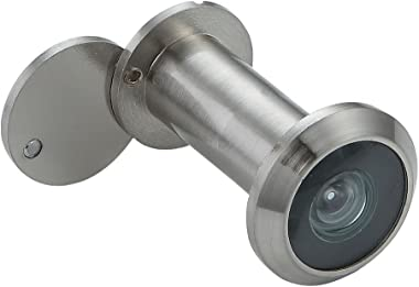 Forliggio Peephole Front Door Viewer with Privacy Cover, One-Way 220 Degrees in Satin Nickel
