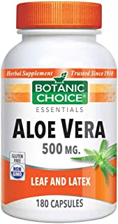 Aloe Vera 500 mg, Sooth, Cleansing, Aid Digestion 180 capsules