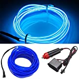 HomDSim 118inch 300cm Auto Car Interior Decor LED Neon Light Lamp Glow EL Wire String Strip 12V...