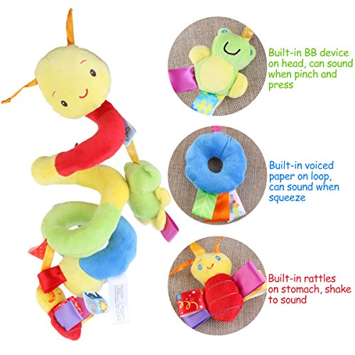 OuYou Espiral Actividades Colgar Juguetes del Cochecito de Beb/é Juguetes Carro Asiento Cochecito Juguete con Campana de Timbre