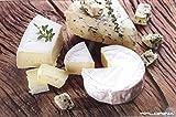 Tabla de cortar de cristal con decoración de quesos varios tamaños, vidrio, 40cm x 30cm
