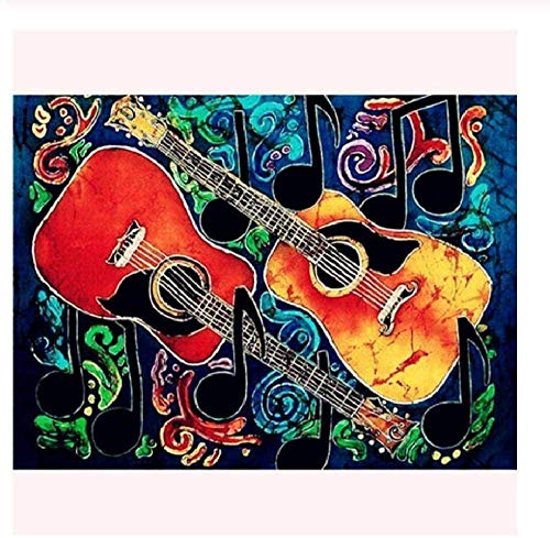Wooden Jigsaw Puzzle 1000 Pieces,adults Musical Instrument Guitar Painting Children Puzzle Leisure Creative Games Toys Puzzles Unique Gift Stress Reliever