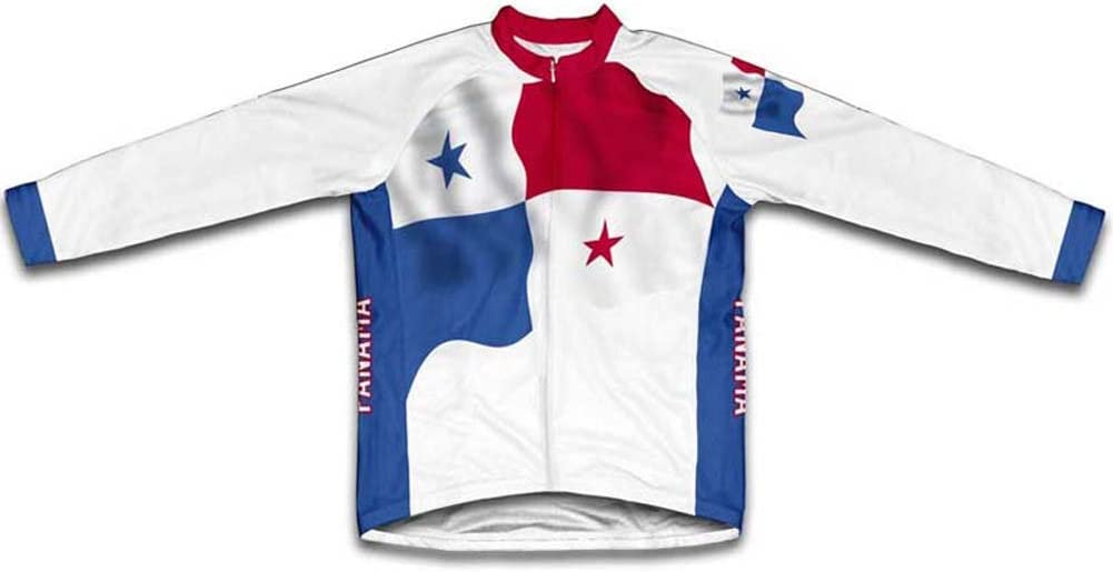 Ranking TOP19 ScudoPro Ranking TOP14 Panama Flag Winter Thermal Cycling Men Jersey for
