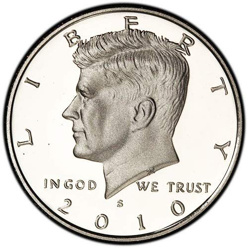 2010 S Silver Proof Kennedy Half Dollar Choice Uncirculated US Mint