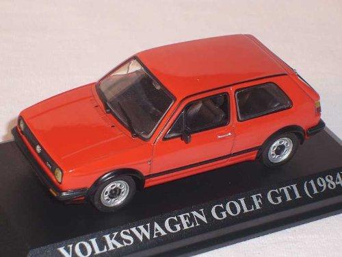 Del Prado Volkwagen Golf ii 2 GTI 1984 Rot 3 TÜrer 1/43 Modell Auto Modellauto