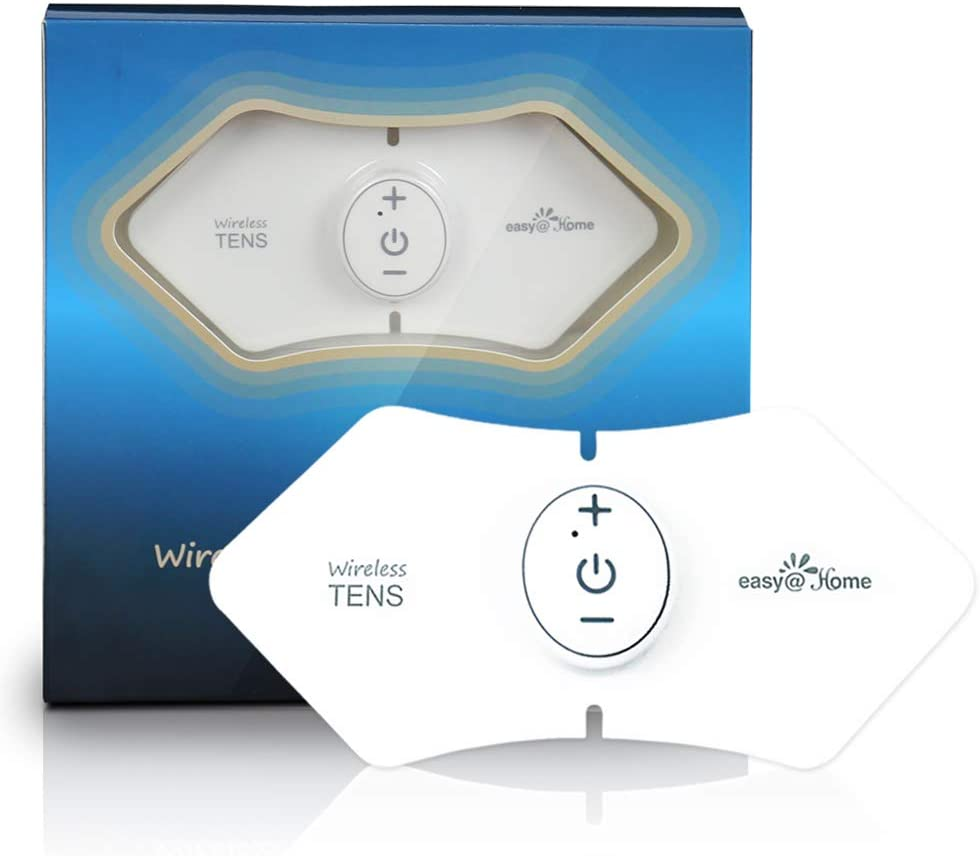 Easy@Home Wireless Rechargeable TENS Unit, FSA Eligible Muscle Stimulator and Pain Relief TENS Pulse Massager - 510K Cleared for OTC Cleared Pain Relief Therapy Device EHE016
