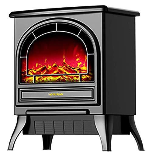 ZFAME Outdoor-Heizung, Terrasse Heizung mit automatischer konstanter Temperatur, Outdoor/Indoor Heizung, Elektro-Kamin mit echten Flamme