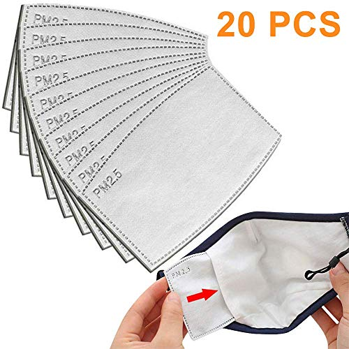 20 PCS PM2.5 Filters Replacement, 5 Layers Anti Haze Filter Paper Protective Filter to Anti Haze Dustproof Air Pollution Germ - 12 8 CM