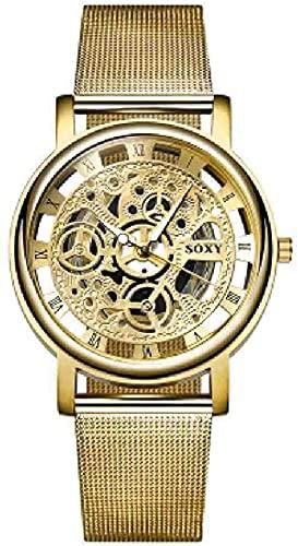 JZDH Mano Reloj Relojes de Pulsera Relojes de Pulsera para Hombre Hombre Reloj de Esqueleto Reloj de Esqueleto Reloj Menor Clockold Relojes Decorativos Casuales