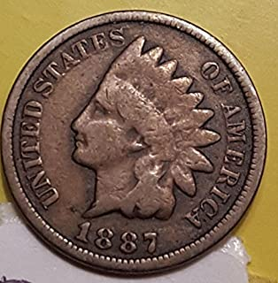 1887 U.S. Indian Head Cent / Indian Head Penny Good and Better