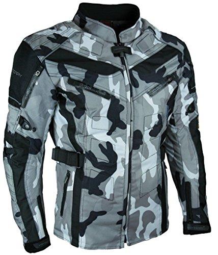 HEYBERRY Touren Motorrad Jacke Motorradjacke Textil Camouflage weiss Gr. L