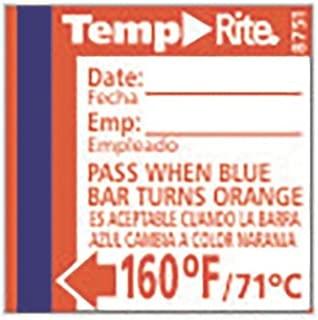 Taylor 8751 TempRite 160°F Dishwasher Test Labels - 24 / PK