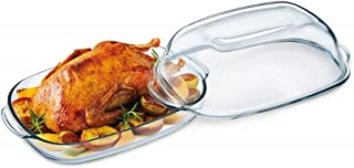 Simax Casserole Dish For Oven: Glass Baking Dish With High Lid Set – Microwave, Oven, and Dishwasher Safe Cookware – Boros...