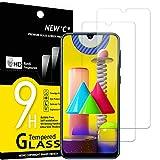 NEW'C 2 Unidades, Protector de Pantalla para Samsung Galaxy M21, Galaxy M31, Antiarañazos, Antihuellas, Sin Burbujas, Dureza 9H, 0.33 mm Ultra Transparente, Vidrio Templado Ultra Resistente