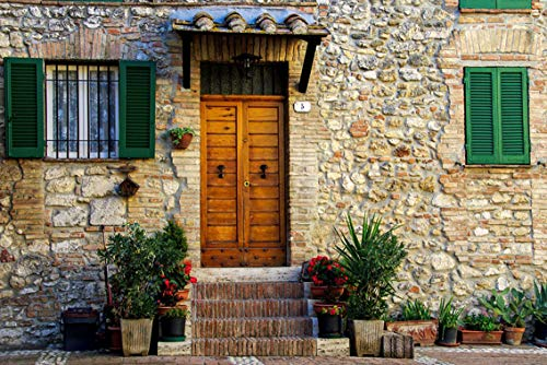 Wall Art Print on Canvas(32x21 inches)- Casa Antica Middle Ages San Gemini Umbria Italy
