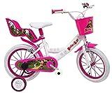 giordanoshop Bicicletta per Bambina 14' 2 Freni Masha e Orso