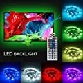 TIKLOK LED Lighting Strip?Multi-Color RGB - USB LED Backlight Strip with Dimmer for Flat Screen TV LCD, Desktop Monitors, Reduce Eye Strain and Increase Image Clarity