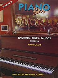 Partition : Piano bar vol.3 ragtimes, blues, tangos