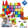 Magnetic Blocks - Magnetic Toys for Toddlers Kids Magnetic Building Blocks Preschool Magnet Set Magnetic Stem Toys 70 Pieces by TUOXIANG