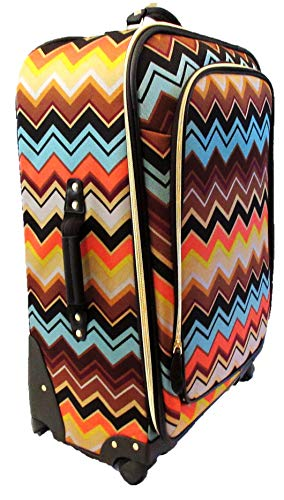 Missoni Target Spinner 28' Luggage Multi Color Chevron Zig Zag