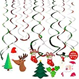 Ccfoud Christmas Hanging Swirl Decoration (...