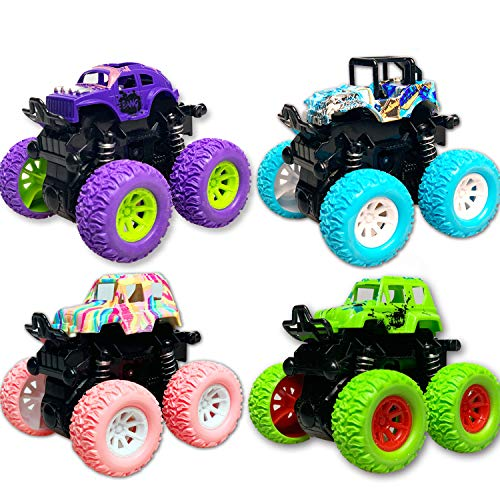 Toy Cars for 3-6 Year Old Boys, Monster Trucks for Boys Kids Toy Trucks for Boys Age 3 4 5 6 7 Year Old Boys Gifts Best Birthday Sellers for Kids Boys