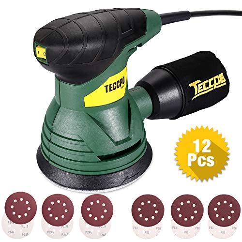 TECCPO Ponceuse Excentrique, 350W, 14,000 RPM, pour polir le bois aussi le métal, TARS22P Bricolage   Cadeau Noël 2019
