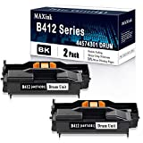 Compatible Black 2-Pack 44574301 / B412 Series Drum Unit Replacement for Okidata B412 B432dn B512dn MB472w MB492 MB562w Printers.[36,000 Pages]