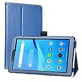 Labanema Funda para Lenovo Tab M7, Slim Fit Carcasa de Cuero Sintético con Función de Soporte Folio Case Cover para 7' Lenovo Tab M7 (3rd Gen) TB-7305F/ TB-7306X Tablet - Azul