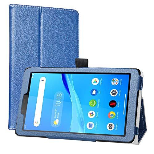 Labanema Custodia con Lenovo Tab M7, PU Pelle Slim Flip Case Cover Protettiva Pieghevole Stand Cover per 7' Lenovo Tab M7 (3rd Gen) TB-7305F/ TB-7306X Tablet - Azzurro