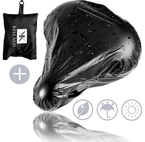 100% wasserdichter premium Sattelbezug + GRATIS Tragebeutel / optimaler Regenschutz durch wasserabweisendes Material mit Lotuseffekt / passend für jeden Fahrradsattel [ incl. 2in1 Schutzfunktion ]