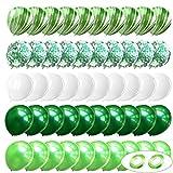 Globos de Confeti,Globos Confeti de Fiesta,Globos de Látex para Cumpleaños,Conjunto Globos de colores: 40 piezas de globos de látex, 10 piezas de globos de confeti y 2 piezas de cinta