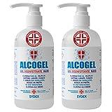 Eurocali 2 Flaconi da 500ml Gel Disinfettante Mani Professionale Igienizzante Antibatterico - Presidio Medico Chirurgico Elimina Odori e Fino al 99,9% di Germi Funghi Batteri e Virus