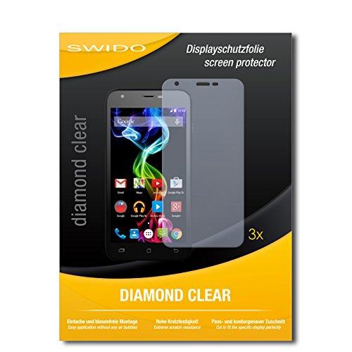 SWIDO 3 x Schutzfolie Archos 50c Platinum Bildschirmschutz Folie DiamondClear unsichtbar