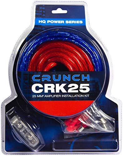 Crunch CRK25 | 25mm² Verstärker-Anschluss-Set - Kabelset 5m mit Cinchkabel