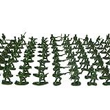 YeahiBaby 200 Piezas de plástico Soldados Militares Figuras Modelo estático Ejército Hombres Figuras Accesorios Juego Establecido para niños 200 Piezas (Color y Tipo al Azar)