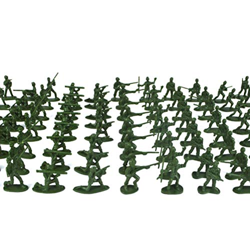 YeahiBaby 200 pcs en Plastique armée Hommes Jouets Soldat Playset Figurines d'action du Groupe de Bataille Enfants Petits Jouets (Couleur et Type aléatoires)