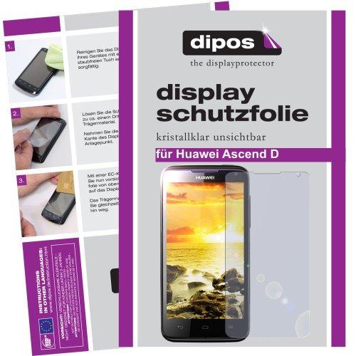 dipos I 2X Schutzfolie klar kompatibel mit Huawei Ascend D Quad Folie Displayschutzfolie