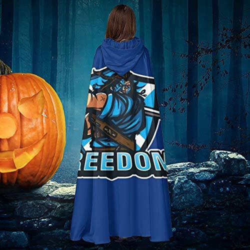NULLYTG Braveheart Freedom - Capa de Disfraz Unisex para Halloween, Bruja, Caballero con Capucha, Vampiros, Capa para Disfraz de Cosplay