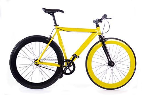 BOX39 Bici Single Speed-Fixed, Scatto Fisso, Gialla/Nera, L'Eclettica