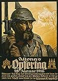 Poster, deutsches Propaganda-Plakat, Aufschrift Altona's