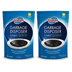 Garbage disposal foaming cleaner with bleach alternative; 4 uses per pouch Cleans what home remedies and other brands cannot Drain and disposer safe Glisten reaches deep into the hidden areas and foams away the toughest grunge and foul odors while fr...