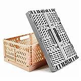 SPESH 2 cestas de almacenamiento plegables de plástico para cocina, dormitorio,...